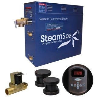SteamSpa Oasis 10.5 KW QuickStart Steam Bath Generator Package with Built-in Auto Drain in Oil Rubbed Bronze
