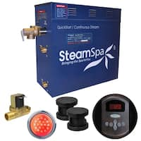 SteamSpa Indulgence 10.5 KW QuickStart Steam Bath Generator Package with Built-in Auto Drain in Oil Rubbed Bronze