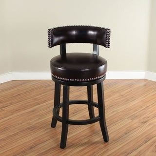 Mossoro Swivel Leather Counter Stool