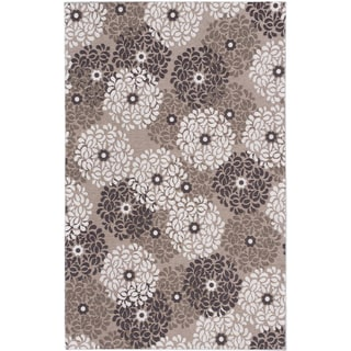 Ecarpetgallery Portico Dark Khaki Ivory Floral Rug (5'0 x 8'0)
