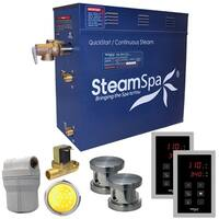 SteamSpa Royal 10.5 KW QuickStart Steam Bath Generator Package with Built-in Auto Drain in Brushed Nickel