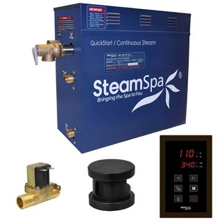SteamSpa Oasis 7.5 KW QuickStart Steam Bath Generator Package with Built-in Auto Drain in Oil Rubbed Bronze
