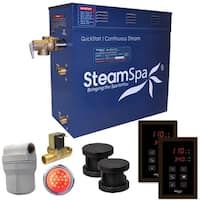 SteamSpa Royal 10.5 KW QuickStart Steam Bath Generator Package with Built-in Auto Drain in Oil Rubbed Bronze