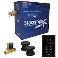 SteamSpa Oasis 12 KW QuickStart Steam Bath Generator Package with Built-in Auto Drain in Oil Rubbed Bronze