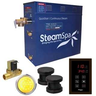 Link to SteamSpa Indulgence 12 KW QuickStart Steam Bath Generator Package with Built-in Auto Drain in Oil Rubbed Bronze Similar Items in Safety Gear