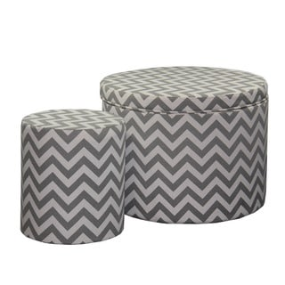 17.35 Chevron Storage Ottoman + 1 Extra Seating