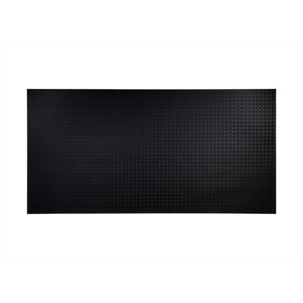 Fasade Diamond Plate Black 4 Foot X 8 Foot Wall Panel
