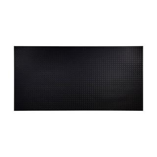 Fasade Diamond Plate Black 4-foot x 8-foot Wall Panel