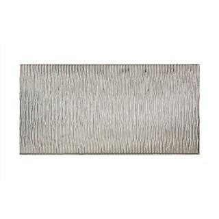 Fasade Dunes Vertical Brushed Aluminum 4-foot x 8-foot Wall Panel