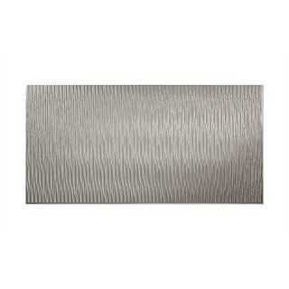 Fasade Dunes Vertical Argent Silver 4-foot x 8-foot Wall Panel