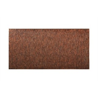 Fasade Dunes Vertical Moonstone Copper 4-foot x 8-foot Wall Panel