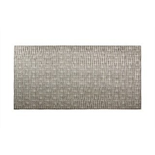 Fasade Dunes Vertical Crosshatch Silver 4-foot x 8-foot Wall Panel