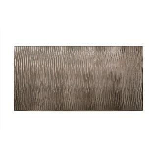 Fasade Dunes Vertical Brushed Nickel 4-foot x 8-foot Wall Panel