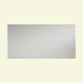 Fasade Current Vertical Gloss White 4 x 8-foot Wall Panel