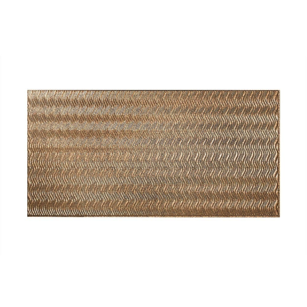 Fasade Current Vertical Cracked Copper 4 x 8-foot Wall Panel (4 x 8)