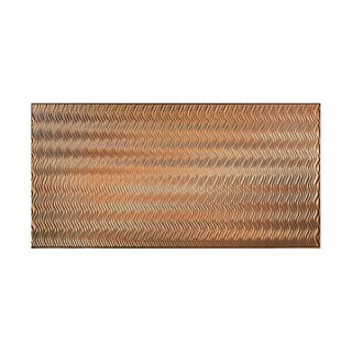 Fasade Current Vertical Polished Copper 4 x 8-foot Wall Panel