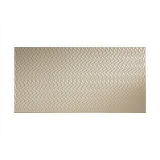Fasade Current Vertical Almond 4-foot x 8-foot Wall Panel