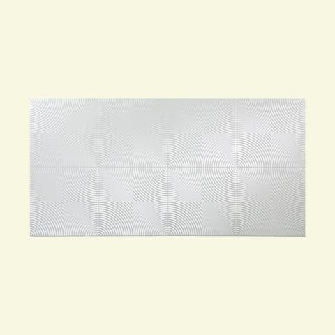 Fasade Echo Gloss White 4-foot x 8-foot Wall Panel