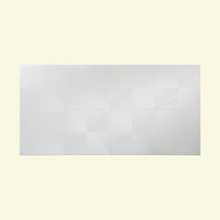 Fasade Echo Matte White 4-foot x 8-foot Wall Panel
