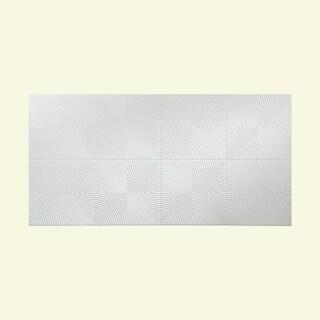 Fasade Echo Matte White 4-foot x 8-foot Wall Panel