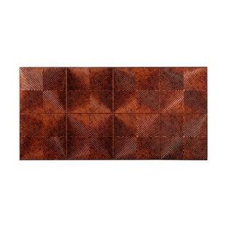 Fasade Echo Moonstone Copper 4-foot x 8-foot Wall Panel