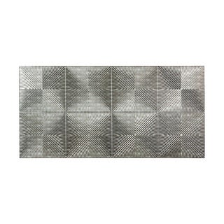 Fasade Echo Crosshatch Silver 4-foot x 8-foot Wall Panel