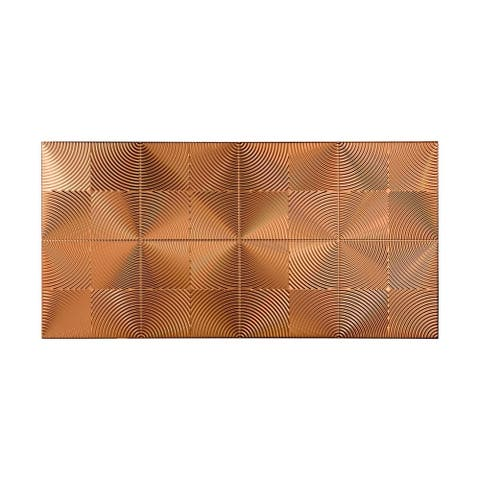Fasade Echo Polished Copper 4-foot x 8-foot Wall Panel