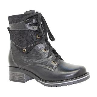 Women's Dromedaris Kara Printed Black Leather