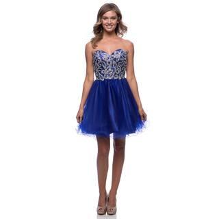 DFI Women's Short Layered Mesh Evening Gown|https://ak1.ostkcdn.com/images/products/10538483/P17619701.jpg?impolicy=medium