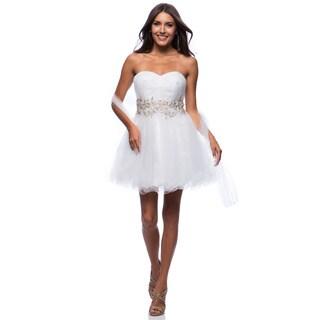 DFI Women's Short Empire Waist Mesh Evening Gown (4 options available)
