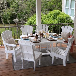 Pawleyu0027s Island Outdoor Dining Table (Option: White)