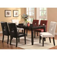 Epcot Open Back Design and Faux Marble Top 7-piece Dining Set