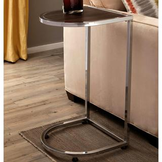 Uptown Contemporary Snack Side Table with Cappucino Wood Top