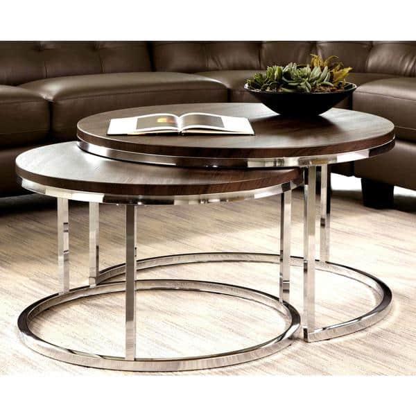 Piece Tail Round Nesting Table Set
