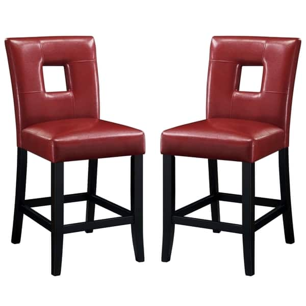 Surprising Epcot Open Back Red Upholstered Counter Height Stools Set Of 2 Machost Co Dining Chair Design Ideas Machostcouk