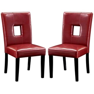 Epcot Open Back Red Upholstered Dining Chairs (Set of 2)