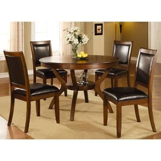 Monterey Casual Deep Brown 5-piece Dining Set with Storage Shelf