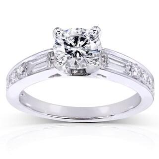 Annello by Kobelli 14k White Gold 1 1/2ct TDW Round Diamond Engagement Ring (H-I, I1-I2)