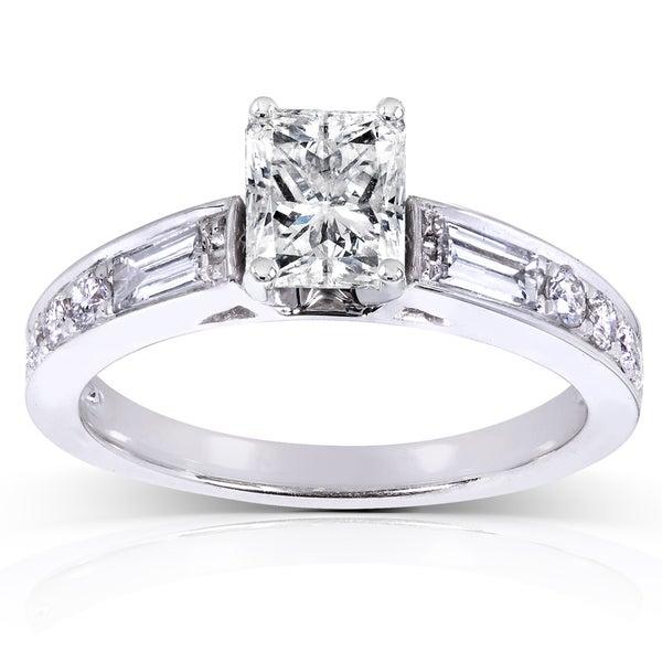 Radiant Reflections Diamond Ring 1 Ct Tw 14k White Gold: Shop Annello By Kobelli 14k White Gold 1 1/2ct TDW Radiant