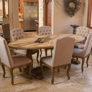 Westland Elm Wood Oval Dining Table (ONLY) by Christopher Knight Home