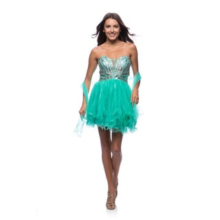DFI Women's Strapless Sequin Sweetheart Dress