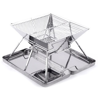 Caesar Hardware Folding Steel Portable Charcoal BBQ Grill