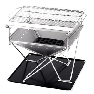 Caesar Hardware Large Folding Steel Portable Charcoal BBQ Grill