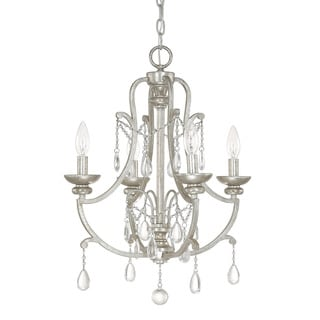 Capital Lighting Traditional 4-light Antique Silver Mini Chandelier