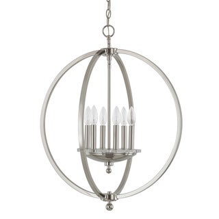 Capital Lighting Perry Collection 6-light Polished Nickel Pendant