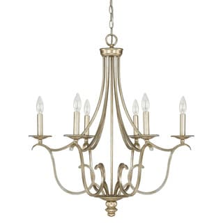 Capital Lighting Bailey Collection 6-light Winter Gold Chandelier