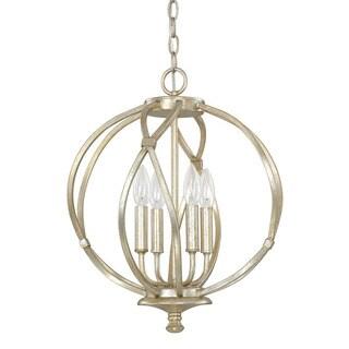 Capital Lighting Bailey Collection 4-light Winter Gold Pendant