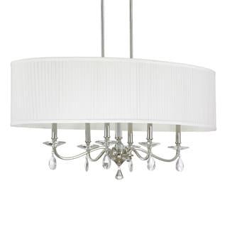 Capital Lighting Alisa Collection 6-light Polished Nickel Island Fixture