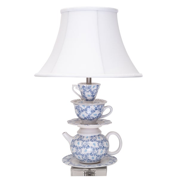 Blue and White Tea Party Lamp