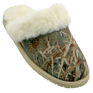 Dawgs Men's Mossy Oak Microfiber Scuffs Slippers